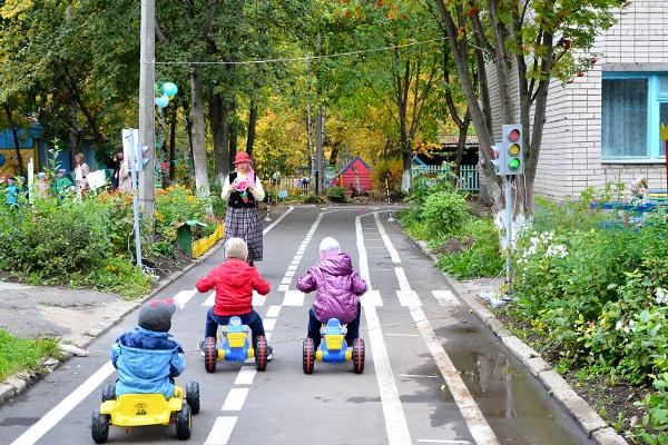 Площадка по пдд в детском саду своими руками