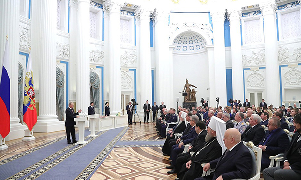 Путин вручил Миллеру орден «Зазаслуги перед Отечеством»