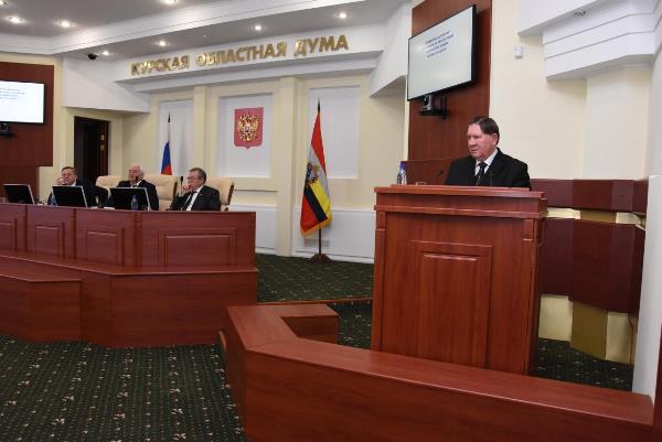 Александр Михайлов сегодня выступил с ежегодным отчетом перед депутатами