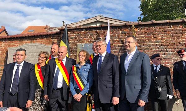 Хинштейн принял участие в открытии мемориала памяти советских партизан в Бельгии