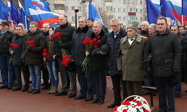 По инициативе партийцев в Пензе прошел митинг памяти героев Сталинградской битвы
