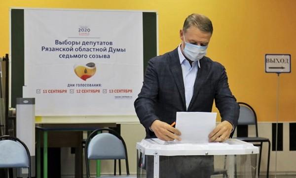 Аркадий Фомин отдал свой голос за кандидата в Рязанскую областную Думу